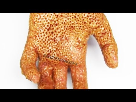 Trypophobia Peanut Butter Hand Queenkingsfx Youtube