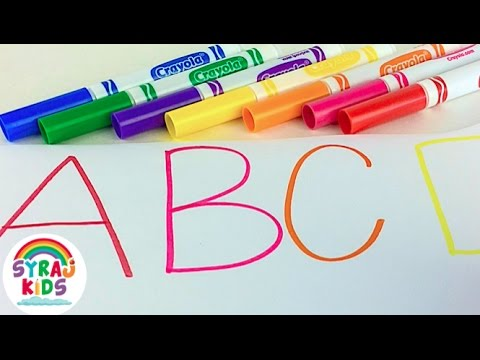 Learn English Alphabet Letters Drawing with Crayola Markers | ABC 123 | Syraj Kids