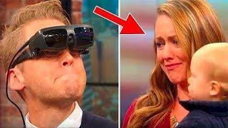 رجل أعمى يرى زوجته و إبنه لأول مرة فى حياته .. !!
