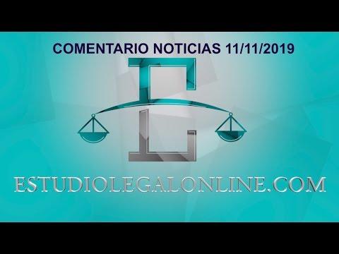 Comentarios Noticias Estudiolegal 11/11/2019 www.estudiolegalonline.com