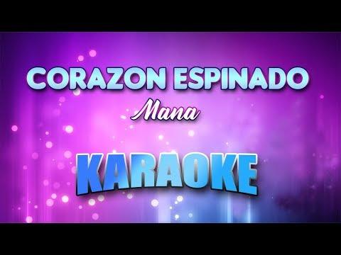 Mana - Corazon Espinado (Karaoke Version With Lyrics)