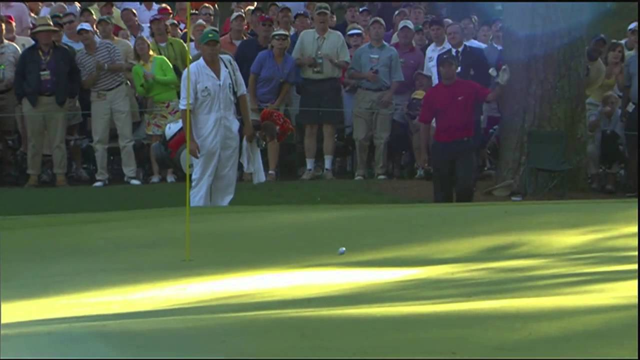 Tiger Woods • 2005 Masters • 16th Hole • Chip-In - YouTube