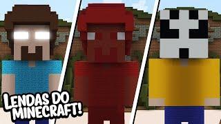 Minecraft: AS LENDAS DE TERROR DO MINECRAFT! RED STEVE, HEROBRINE, LICK! (BUILD TUBERS)