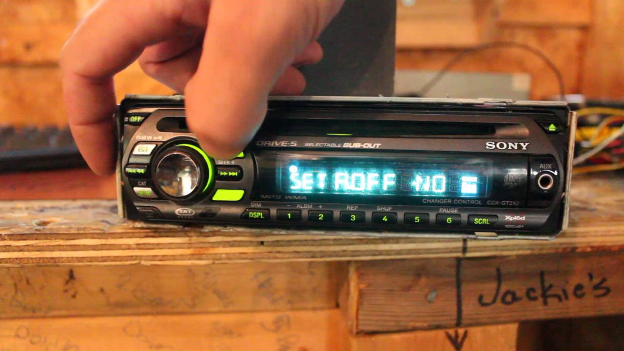 hight resolution of sony cdx gt310 head unit deck overview