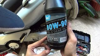 Gear Oil Change - Yamaha Tmax