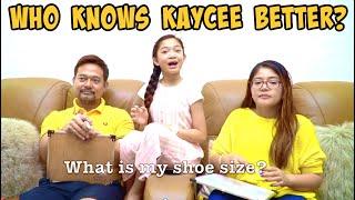 Who Knows Kaycee Better? | Kaycee & Rachel in Wonderland