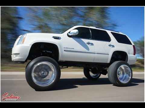 The Tallest Cadillac Suv You Will See 26x16 Wheels On A