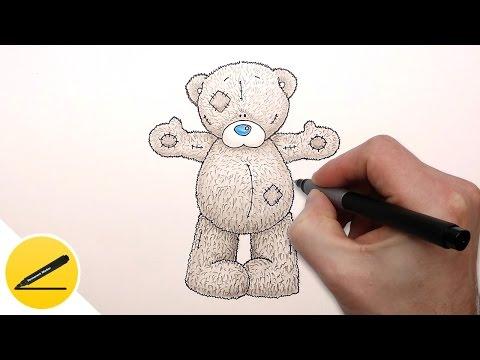 Как нарисовать мишку карандашом поэтапно