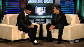 Ne Yo Performs One in a Million; Interview about his Fall on AMA on Lopez Tonight