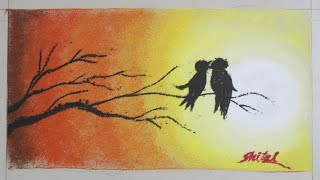 Simple and Easy Scenery in Poster Rangoli designs