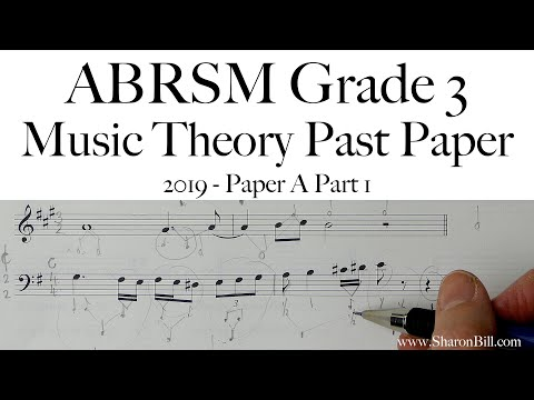 ABRSM Music Theory Grade 3 Past Exam Practice Paper 2019 A Part 1 With Sharon Bill