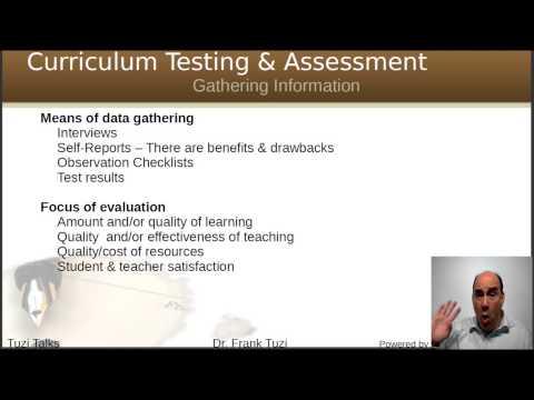 Evaluating a Language Curriculum