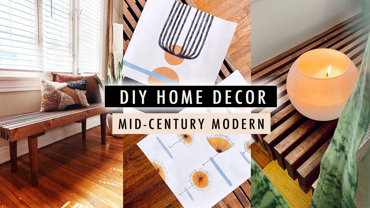 DIY MID-CENTURY MODERN HOME DECOR on a budget | XO, MaCenna