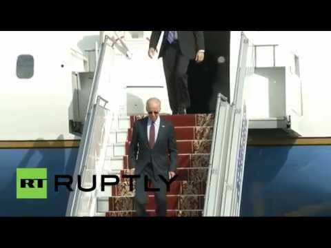 Ukraine: US VP Joe Biden arrives in Kiev