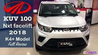 Mahindra Kuv 100 2018 k4 Plus Model Interior,Exterior,Features Review and Walkaround