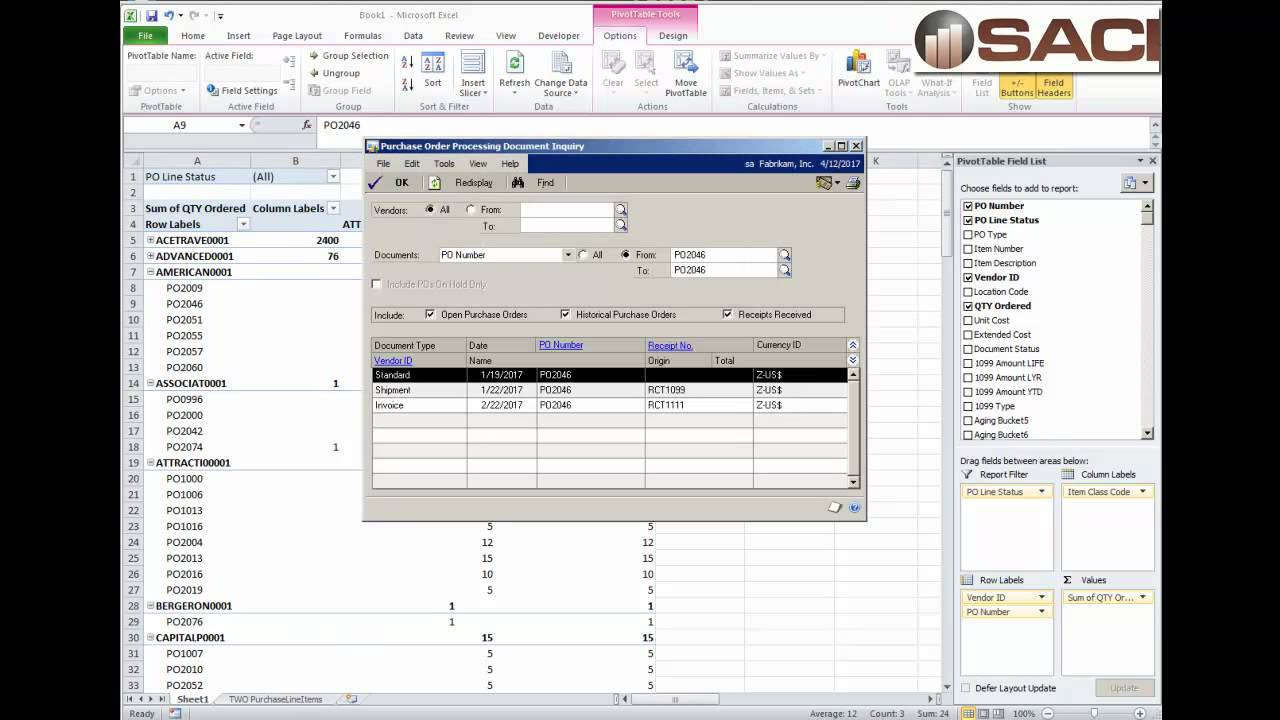 Microsoft Dynamics GP    Manage Purchase Orders With Excel   YouTube  Microsoft Purchase Order Template