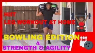 Home HIIT Leg Workout With Bowling Balls - Follow Along - PBA Bowlers Edition