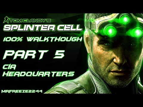 Splinter Cell 1   100% Walkthrough   Part 5 - CIA Headquarters