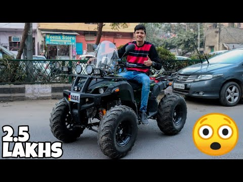 Riding ATV In Streets of DELHI !! 😍
