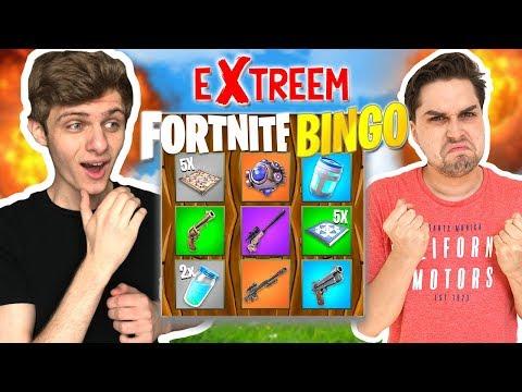 Fortnite Bingo met Verrassingen! 😱 - Extreme Fortnite Bingo Playground