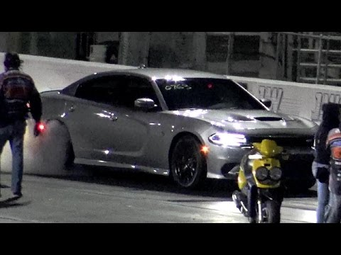 707 HP 2016 Charger Hellcat W/ Drag Radials - 1/4 Mile Video - Road Test TV ®