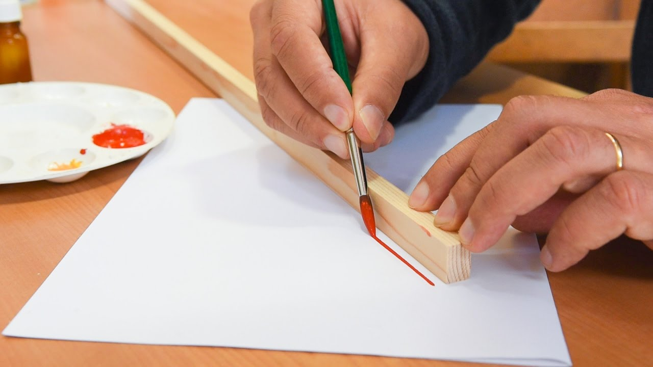 Comment peindre une ligne droite bordure liseret entre le cadre et l 39 int rieur de l 39 ic ne - Comment nettoyer de l etain ...