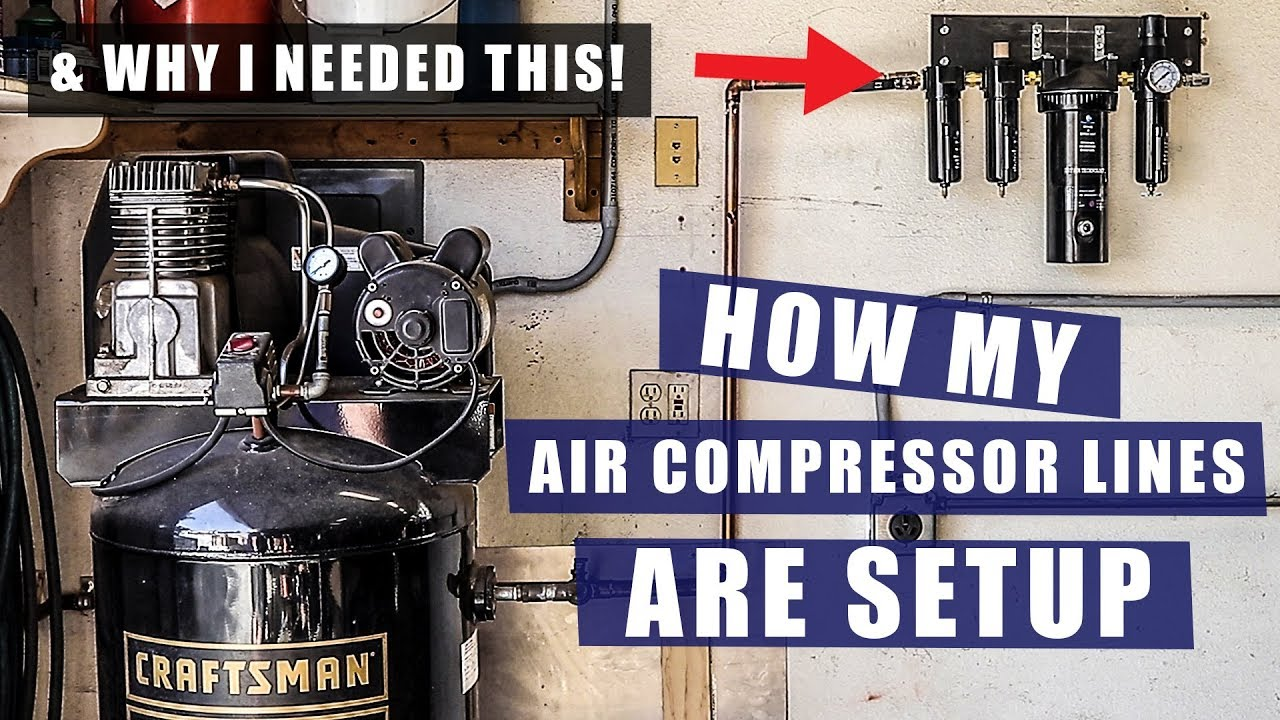 how i setup my air compressor lines installing air dryer jimbo s garage [ 1280 x 720 Pixel ]