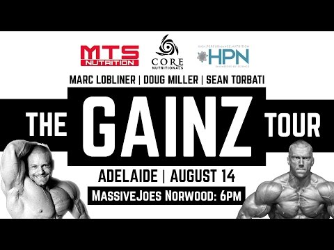 The GAINZ Tour 2015 Adelaide Event Details! Friday August 14 6pm! MassiveJoes Norwood!