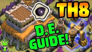 3 METHODS FOR TH8 DARK ELIXIR FARMING! - Town Hall 8 D.E. Guide - Clash of Clans