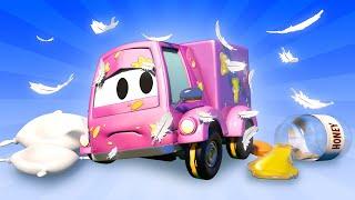 Toms Autowaschanlage -  Suzy ist voll mit Honig und Federn - Autopolis 💧 Cartoons für Kinder 🚓 🚒