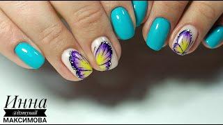 ❤ КОРРЕКЦИЯ ногтей ГЕЛЬ ЛАКОМ ❤ MASURA ❤ MASU MASU ❤ ЯРКИЙ дизайн ногтей ❤ БАБОЧКА на ногтях ❤