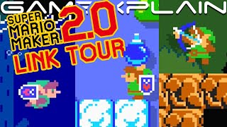 Playing as Link in Super Mario Maker 2 - Master Sword 2.0 Tour! (New Music, Abilities & Animations!)