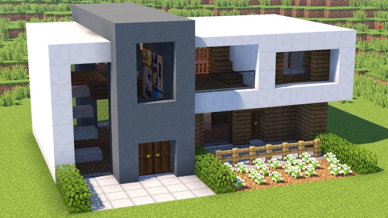 дом в стиле хай тек майнкрафт #8