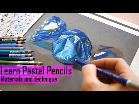Art Live! Learning Pastel pencils drawing/ Painting.