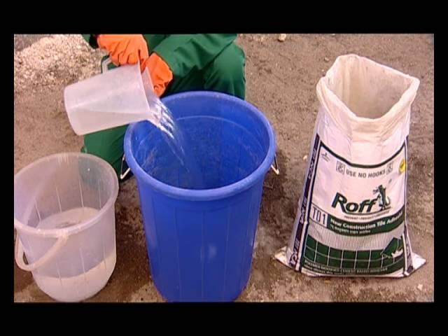 Roff New Construction Tile Adhesive Application Youtube