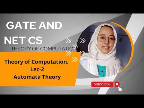 THEORY OF COMPUTATION - AUTOMATA( THEORY OF COMPUTATION) LEC - 2
