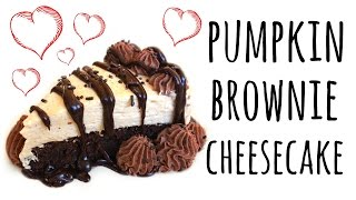 How to Make Pumpkin Brownie Cheesecake | ASMR