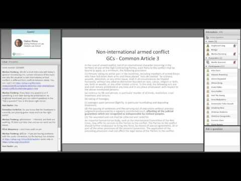 OLS Humanitarian Law and Policy - Detention in non-international armed conflict