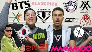 REACTING TO KPOP MUSIC VIDEOS! (EXO, BTS & MORE!)