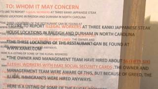 kanki japanese steak house,raleigh,NC hired about 56 illegal worker(Trabajador ilegal Contratado)