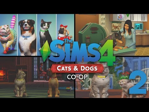 "The Sims 4 Cats & Dogs ""CO-OP""  - Let's Play // Episode 2 [Differences between a Cat and a Dog]"