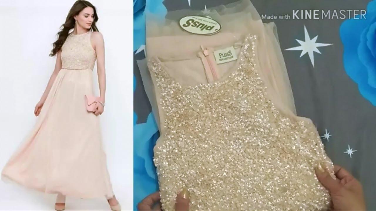 932a60533e9 Flipkart gown review & try on||party wear Gown Dress|western dress ...
