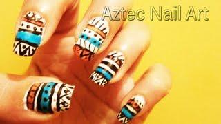 Aztec Nail Art Design Thumbnail