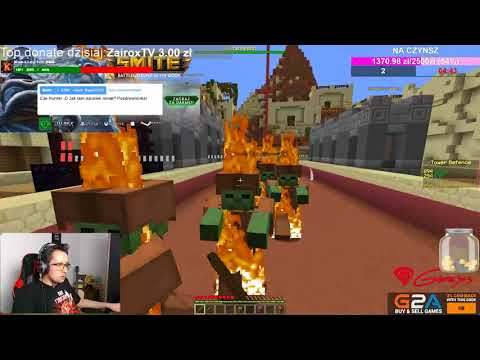 LIVE MINECRAFT MINIGRY - OLBRZYMI UPDATE TOWER DEFENCE!