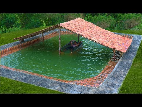 Building The Most Beautiful Biggest Swimming Pool Underground In The Forest (Full Video)