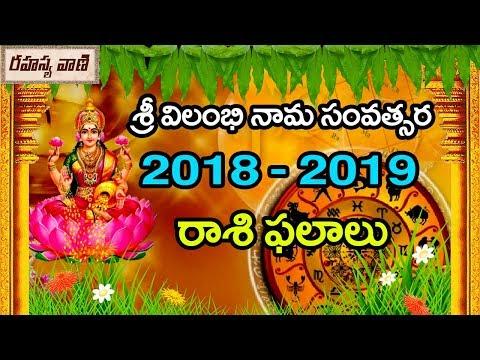 శ్రీ విలంభి నామ సంవత్సర 2018 – 2019 రాశి ఫలాలు | 2018 – 2019 Rasi Phalalu – Rahasyavaani