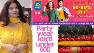 80% off mai Flipkart se kurtis gowns dress Haul   Big Saving Days Biggest Sale   Anjana's Lifestyle
