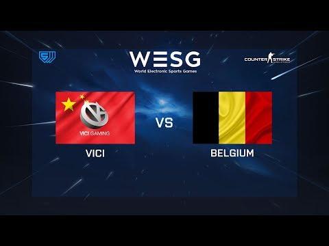 ViCi vs Belgium - de_cbble - WESG 2018 - Group Stage