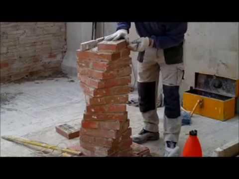 Construcci d 39 una columna salom nica amb totxo n 70 cat Construir una pileta de ladrillos