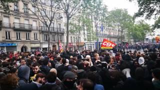 Manif 1er Mai 2017 - les CRS bloquent Bastille Mp3